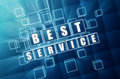 Best service in blue glass cubes Stock Image