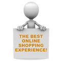 Best shopping experience Royalty Free Stock Photo