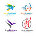 Best sport  consulting Logo Set Royalty Free Stock Photo