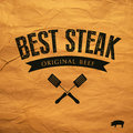 Best steak label eps compatibility required Royalty Free Stock Photo