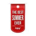 The best summer ever banner design over a white background vector illustration Royalty Free Stock Photography