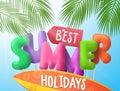 Best Summer Holidays Vector Ba...