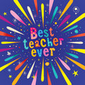 Best teacher ever greeting card Royalty Free Stock Photo