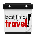 Best times to travel words calendar peak transportation days dat on a advising you of or off season dates months or seasons for Royalty Free Stock Photo