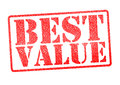 BEST VALUE Rubber Stamp Royalty Free Stock Photo