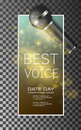 Best voice music poster vector background