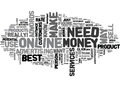 Best Way To Make Money Online What It Takes Word Cloud
