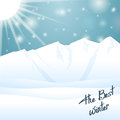 The best winter happy holiday outside sunny snow background Royalty Free Stock Photos