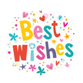 Best wishes lettering text card Royalty Free Stock Image