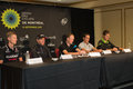 Best in the world taking part in elite press conference at gpcqm quebec canada september ryder hesjedal cadel evans christopher Royalty Free Stock Photos