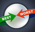 Best worst arrows indicates number one and inferior showing dire Royalty Free Stock Photo