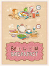Best For You Breakfast vintage poster design Royalty Free Stock Photo