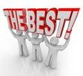 Beste team lifting words top winners feiern Stockbild