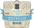 Bestseller book style and type label Royalty Free Stock Photos