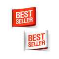 Bestseller labels illustration on white Royalty Free Stock Images