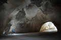 Bet guvrin israel isr jan visitors at on the biggest bell cave in maresha national park on jan it s a series of large caves Stock Image