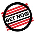BET NOW stamp on white Royalty Free Stock Photo