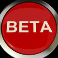 Beta button shows development or demo version showing Royalty Free Stock Image