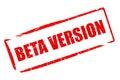 Beta version Royalty Free Stock Photo