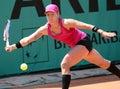 Bethanie MATTEK-SANDS (USA) bei Roland Garros 2010 Lizenzfreie Stockbilder