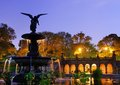 Bethesda terrace and fountain in new york city Royalty Free Stock Image