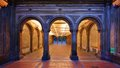 Bethesda terrace underpass the pedestrian at central park new york city Royalty Free Stock Photography