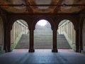 Bethesda terrace view of in the heart of the central park in nyc Stock Images