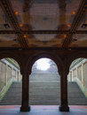 Bethesda terrace view of in the heart of the central park in nyc Royalty Free Stock Images