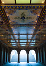 Bethesda terrace view of in the heart of the central park in nyc Royalty Free Stock Photography