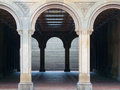 Bethesda terrace view of in the heart of the central park in nyc Royalty Free Stock Image