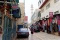 Bethlehem, Israel. - February 15.2017. Narrow street in the Arab quarter in Bethlehem.
