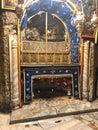 BETHLEHEM, PALESTINE - JANUARY 22, 2019: Grotto Over Cave Where Jesus Christ was Born. Church of the Nativity Bethlehem Royalty Free Stock Photo