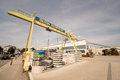 Beton bernrieder crane infront of the concrete plant Royalty Free Stock Photography
