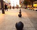 Betonowe czarne piłki Obrazy Stock