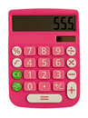 Betoverende roze calculator Stock Afbeeldingen