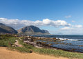 Bettys bay western cape south africa rocky shoreline of betty in Stock Photography