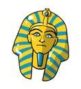 Beutiful golden pharaoh mask