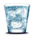Bevanda con il primo piano del ghiaccio Immagini Stock Libere da Diritti
