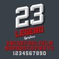 Beveled style font Royalty Free Stock Photo