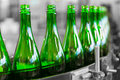 Beverage bottles drink a conveyor manufacturing plant Stock Photo