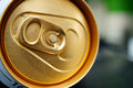 Beverage can detail of a with stay tab Stock Photo