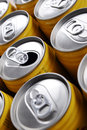 Beverage cans Stock Photo