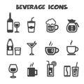 Beverage icons mono vector symbols Royalty Free Stock Image