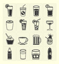 Beverage icons set vector black color Royalty Free Stock Photos