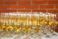 Beverage photo serving with champagne Royalty Free Stock Photography