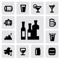Beverages icons Royalty Free Stock Photography