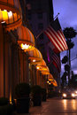Beverly hills at night los angeles california Stock Photography