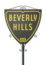 Beverly hills sign vector illustration of isolated road Stock Photography