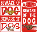 Beware of dog Royalty Free Stock Photos