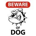 Beware of dog aggressive sign Royalty Free Stock Photo